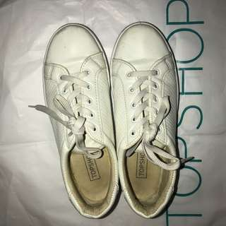 Topshop All White Sneakers