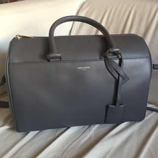 (接近全新)YSL Saint Laurent Duffle Bag In Grey