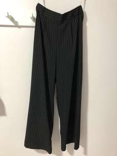 BN MDS Black Stripe Flare Pants