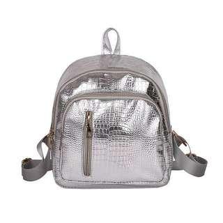 Crocodile bag; backpack Haversack sling travel bag; scale scaly; Korean Kpop ulzzang; female girl woman women lady ladies;