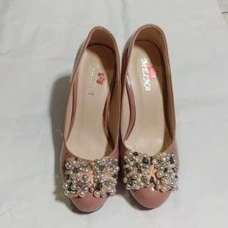粉紅色高跟鞋 37碼 85%新