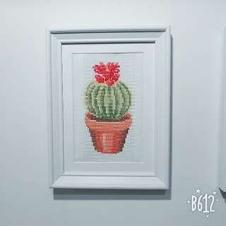 Handmade Cactus Cross Stitch Artwork