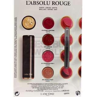 Lancome L'absolu Rouge Lip Palette Colour Card #378 #132 #317 #202 (4x0.4g)