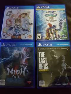 For sale ps4 games good as b.new