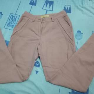 formal pants (Old rose)