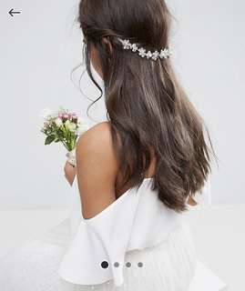ASOS Wedding Flower Back Hair Crown