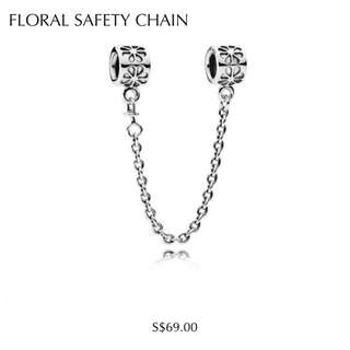 Pandora Floral Safety Chain