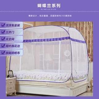 谷今3門蚊帳(回型底)免安裝蒙古包(5尺)