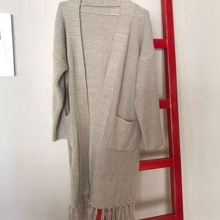 Knit open long sweater