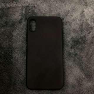 iPhone X plain black soft case