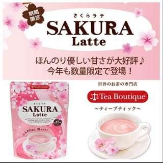 日本季節限定Sakura Latte櫻花拿鐵