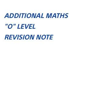∆ ADD MATHS REV NOTE SOFTCOPY