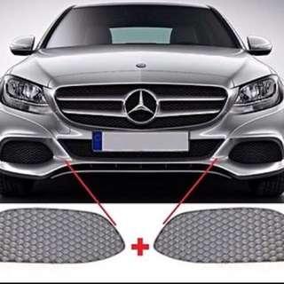 Genuine Mercedes W205 2014-2015 Sept changing of Front lower grill to 2016-2017 version.