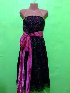 Black & Pink Gown For Rent