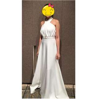 White Apartment 8 Long Gown