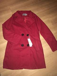 Trenchcoat / outerwear / jacket / trendy trench coat / Korean jacket / Korean style trench jacket / excellent material / elegant coat / coat / elegant red jacket / TOP / winter / spring / autumn
