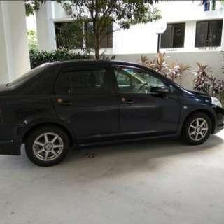 Nissan latio 1.5 sedan for scrap in Jun