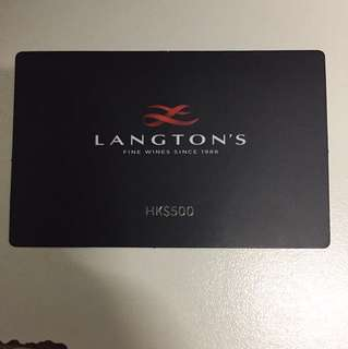 Langton's $500 voucher for wine purchase $2000 or above