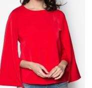 Red Cape Sleeve Top