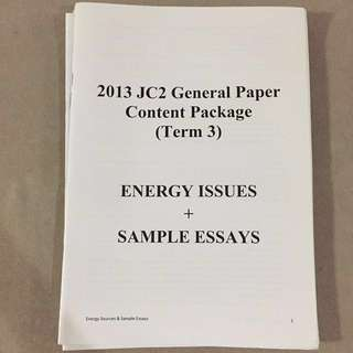 General Paper content package GP notes