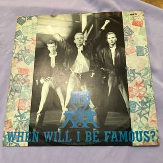 "Bros —When Will I Be Famous ? 12"" Single"