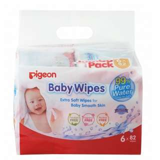 Carton of Pigeon Baby Wipes 6-in-1 pack + Free Gifts worth $20