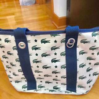 Lacoste 90% new tote bag 可上膊袋
