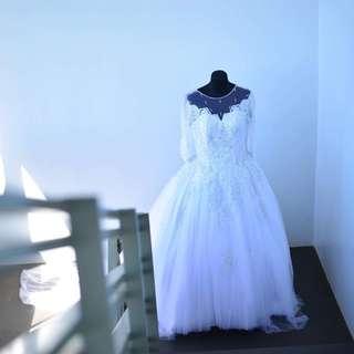 Custom Made Plus size Wedding Gown