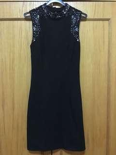 Embellished forever new black dress