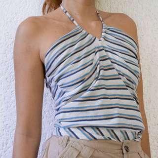 90's striped halter top