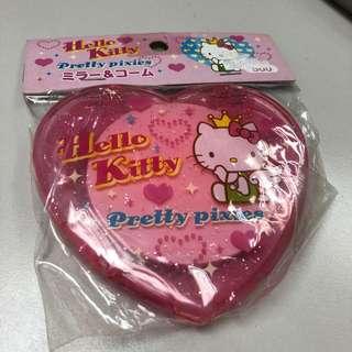 舊版全新日本製Hello Kitty鏡梳盒 1993版