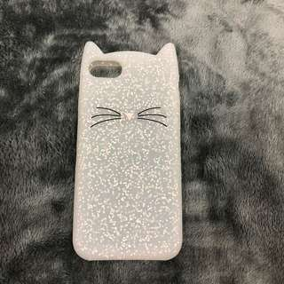iPhone 7/8 white cat case