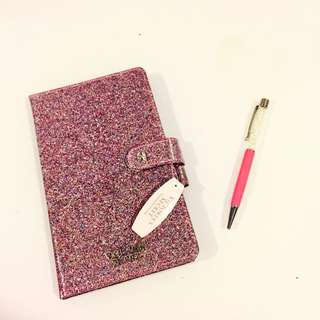 Victoria Secret Glitter Notebook with Crystal Pen
