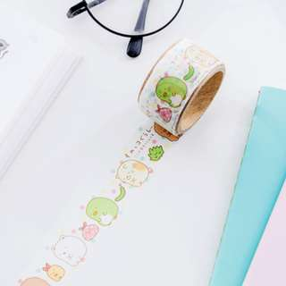 Only 2 Instock! (Mix & Match)*San-X Japan - Sumikko Gurashii Die-Cut Washi Tape Set (White Colourful Dots)