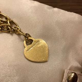 Tiffany & co 18K gold heart tag charm