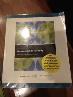 Managerial Accounting 12th edition
