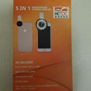 Camera lens 5 in 1: smart phone