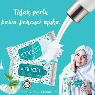 READY STOCK🌟Imaan Suci Cleansing Wipes🌟