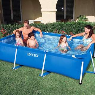 Intex 260M x 160M x 65cm Rectangular Metal Frame Swimming Pool For Small Family