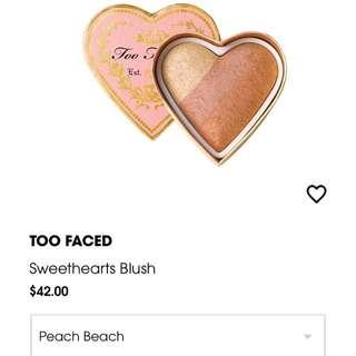 Too faced peach beach