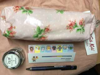 Cath Kidston pink floral pencil case