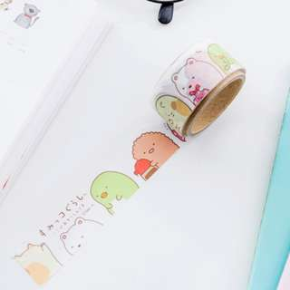 Only 2 Instock! (Mix & Match)*San-X Japan - Sumikko Gurashii Die-Cut Washi Tape Set (White)