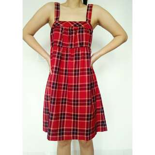 Dress Tartan warna merah