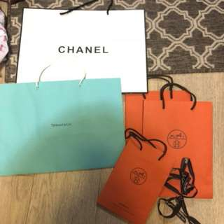Hermès, Chanel, Tiffany & Co Shopping bags 🛍