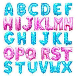 Balon foil huruf dan angka