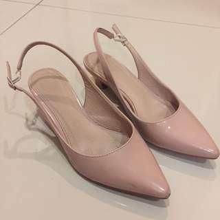 Mixxo Original Midi Heels Hak Sepatu Warna Kulit Elegan #123moveon