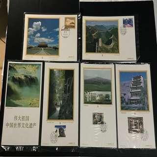 China Stamp - 中国世界文化遗产 邮卡 Booklet 中国邮票