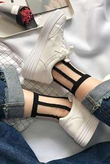 Harajuku Retro Mesh Socks