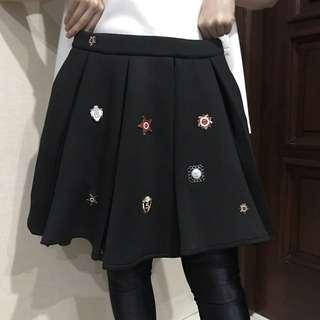 Black Patch Skirt
