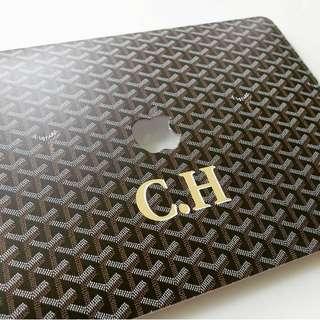 Goyard macbook case custom